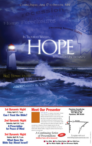 Light House Blu Poster